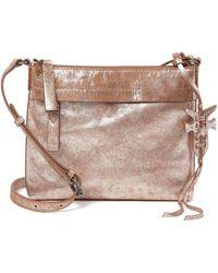 Frye - Carson Metallic Leather Crossbody Bag - Lyst