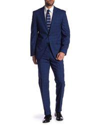 Vince Camuto - Plaid Print Slim Fit Wool 2-piece Suit - Lyst