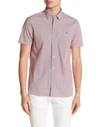 Ted Baker - Silamor Short Sleeve Geo Print Trim Fit Shirt - Lyst