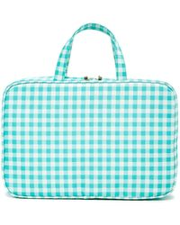 Kestrel - Gingham Weekend Organizer Bag - Green/white - Lyst