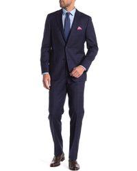 Hickey Freeman - Windowpane Classic Fit Wool Suit - Lyst