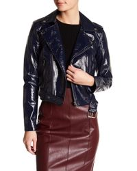 Do+Be Collection - Crinkled Faux Leather Moto Jacket - Lyst