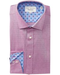 Ted Baker - Woven Geo Trim Fit Dress Shirt - Lyst