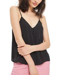 TOPSHOP - Button Front Pindot Camisole - Lyst