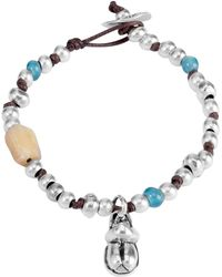 Uno De 50 - Beetlejuice Beaded Accent Thread Bracelet - Lyst