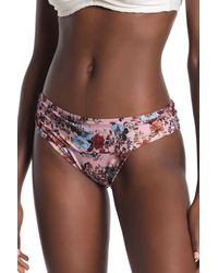 Ella Moss - Floral Shirred Waist Bikini Bottoms - Lyst