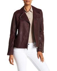 T Tahari - Skylar Leather Jacket - Lyst