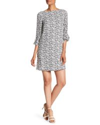 Tahari - Print Georgette Shift Dress - Lyst