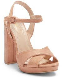 52de6ccb52dbd Lyst - Elegant Footwear Haily Laser-cut Wedge Sandal in Pink