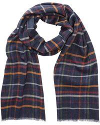 Tommy Bahama - Plaid Print Knit Wrap Scarf - Lyst