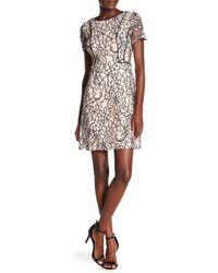 Kensie - Floral Crochet Lace Crew Neck Dress - Lyst