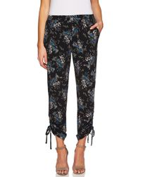Cece by Cynthia Steffe - Ruched Dancing Bouquets Pants - Lyst