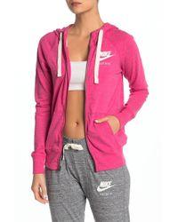 86660e43c6 Nike Gym Vintage Full-zip Hoodie in Yellow - Lyst