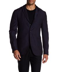 John Varvatos - Convertible Wool Peak Lapel Slim Fit Jacket - Lyst