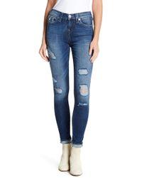 True Religion - High Rise Super Skinny Jeans - Lyst