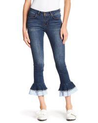 William Rast - Frayed Hem Ankle Skinny Jeans - Lyst