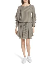 A.L.C. - Cannon Stripe Silk Dress - Lyst