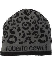 Roberto Cavalli - Printed Wool Blend Beanie - Lyst