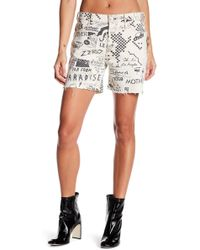 Mother - Vagabond Print Shorts - Lyst