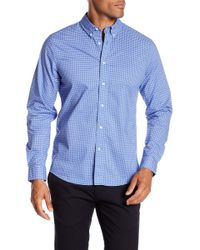 Slate & Stone - Modern Fit Print Accent Long Sleeve Button Shirt - Lyst