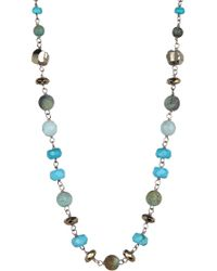 Chan Luu - Sterling Silver Turquoise Beaded Necklace - Lyst