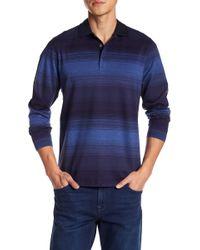 Bugatchi - Regular Fit Long Sleeve Polo Shirt - Lyst
