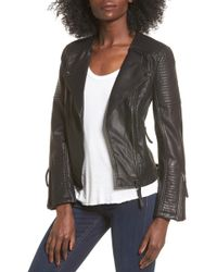 TOPSHOP - Luna Faux Leather Biker Jacket - Lyst