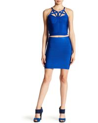 Wow Couture - Solid Bodycon Mini Skirt - Lyst
