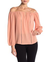 Cece by Cynthia Steffe - Off-the-shoulder Ladder Cutout Blouse - Lyst