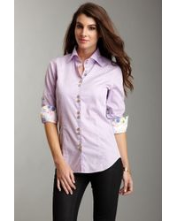 Jared Lang - Lilac Button Down Shirt - Lyst