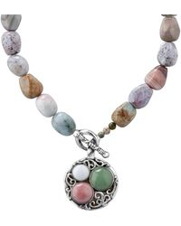 Relios - Sterling Silver Mixed Semi-precious Stone Pendant Beaded Necklace - Lyst