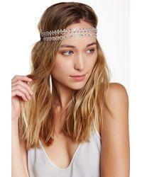 Noir Jewelry - Crochet Metallic Crystal Headbands - Pack Of 2 - Lyst