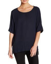 Pleione - Short Sleeve Oversized Tunic Tee - Lyst