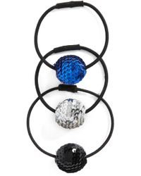 Tasha - 3-pack Sequin Disco Ball Pony Holders - Lyst