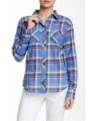 Sandra Ingrish - Pocketed Plaid Button Shirt - Lyst