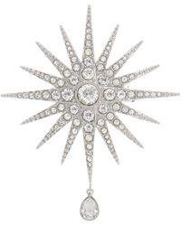 Swarovski - Star Crystal Rhinestone Brooch - Lyst