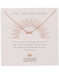 Dogeared - Then, Now, & Forever Crystal Small Bar Pendant Necklace - Lyst