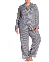 Splendid - Long Sleeve Notch Collar Top & Pants Pajama Set (plus Size) - Lyst