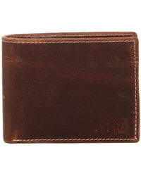 Marc New York - Leather Rugged Wash Commuter Wallet - Lyst