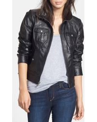 Guess - Leather Jacket - Lyst