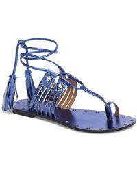 TOPSHOP - Fay Embellished Wraparound Sandal (women) - Lyst