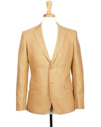Boga - Oak Buff Brown Notch Lapel Modern Fit Blazer - Lyst