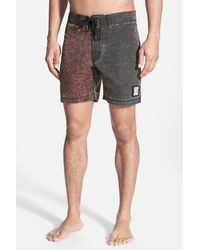 Insight - 'tough Crowd' Washed Board Shorts - Lyst