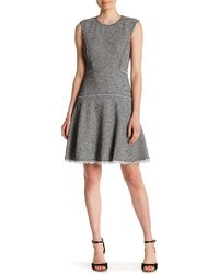 Rebecca Taylor - Sleeveless Stretch Tweed Dress - Lyst