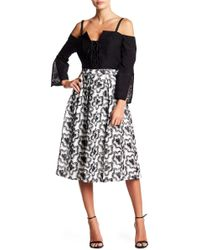 BCBGMAXAZRIA - Embroidered A-line Skirt - Lyst