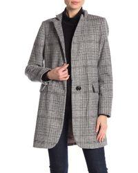 Lucky Brand - Long Plaid Coat - Lyst