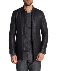 John Varvatos - Exposed Zipper Detailed Linen Jacket - Lyst