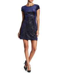 Jump | Allover Glitter Velour Short Slim Dress | Lyst