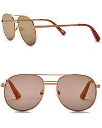 Elizabeth and James - Watts 53mm Metal Aviator Sunglasses - Lyst