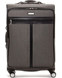"Hartmann - 26"" Black Jacquard Twill Leather Spinner - Lyst"
